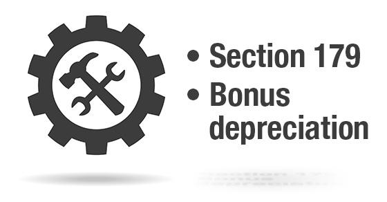 Section 179 and bonus depreciation